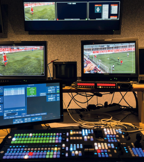 Live Sport Broadcast and Streaming - Remote Production Football Match