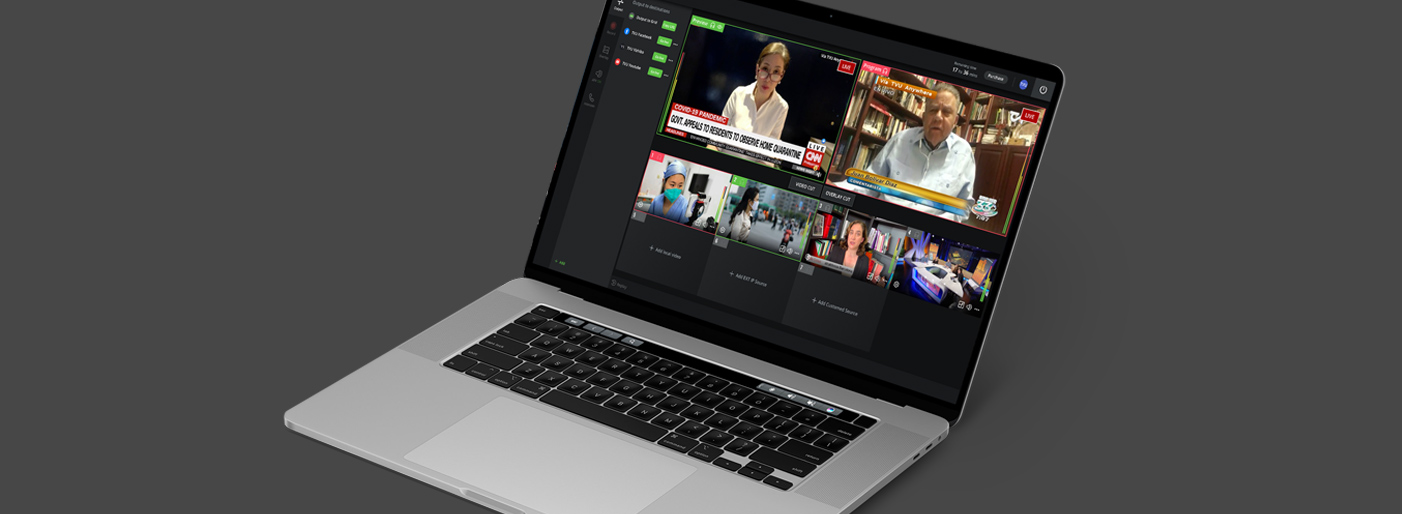 Live remote cloud virtual production - multi camera - from home