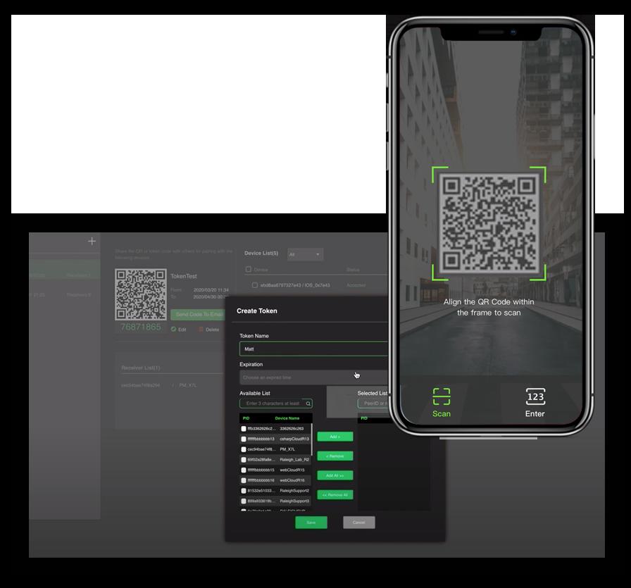 Activar nuevo usuario con código QR - vídeo móvil y aplicación de streaming