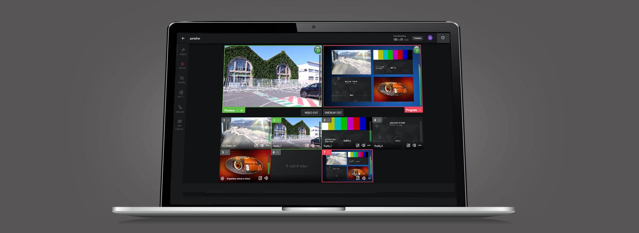 Software de producción de vídeo en directo basado en la nube con múltiples vistas