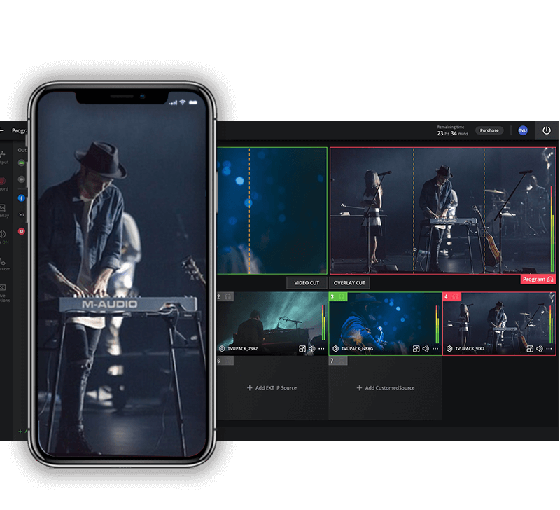 Cloud-based live video production software for vertical streaming output