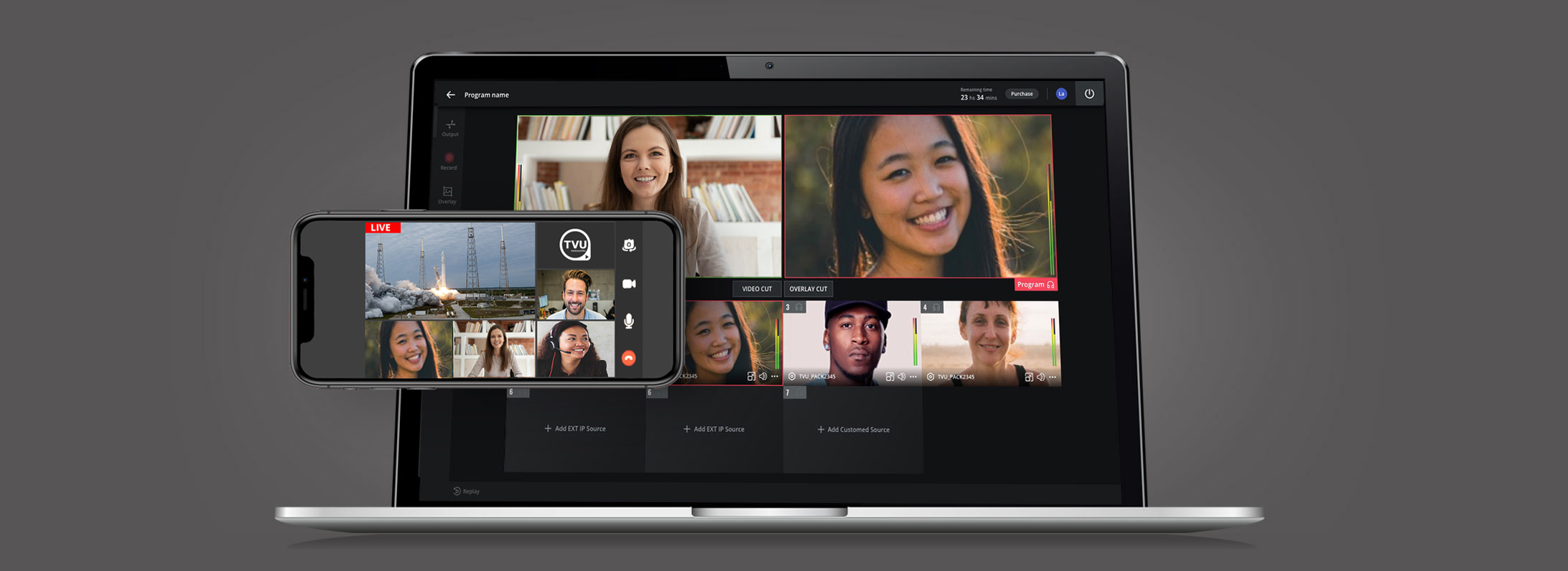 Cloud-based live video production and video conferencing for broadcast