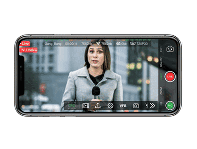 Intercom VoIP live video transmission - TVU Anywhere mobile broadcast