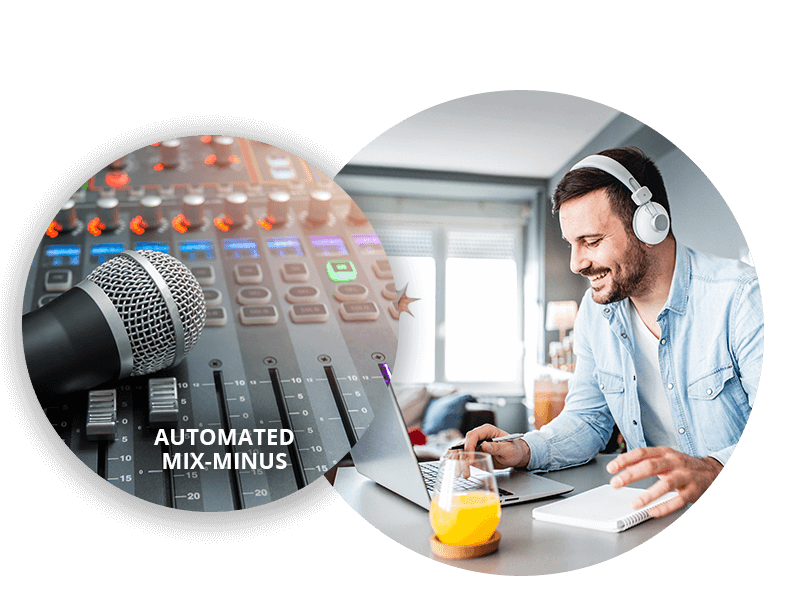Designed for remote production and virtual collaboration with mix minus audio management
