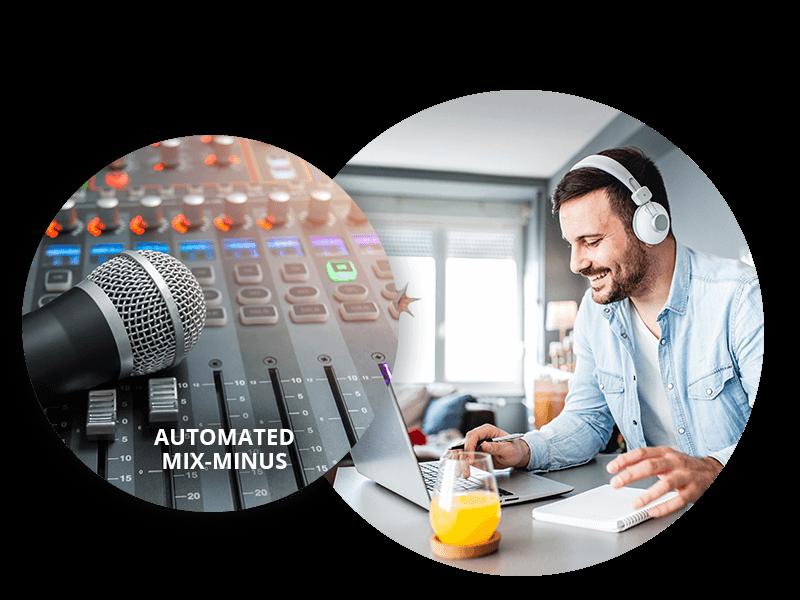 Diseñado para la producción remota y la colaboración virtual con la gestión de mezcla menos audio