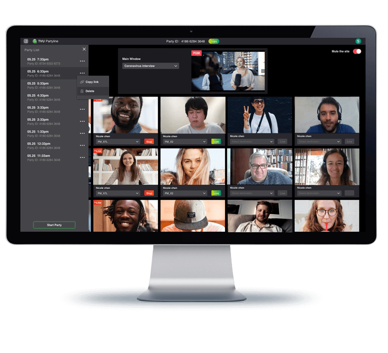 Unlimited fan participation and fan engagement - remote production and live collaboration
