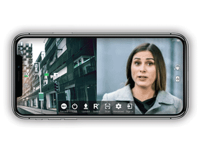 Split screen live streaming video transmission - TVU Anywhere mobile broadcast