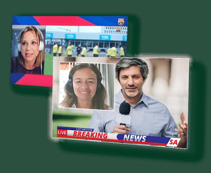 Herramienta de colaboración y videoconferencia en vivo de calidad broadcast: streaming de producción remota