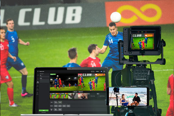 multi-camera remote at-home production for live sports, news broadcast and streaming