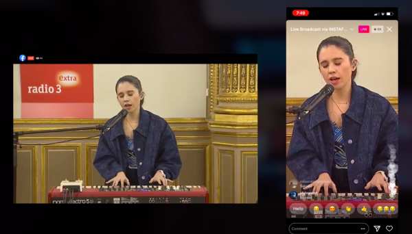 RTVE and Radio 3 Live Concert using TVU Producer - broadcast in all possible formats, including SDI and vertical output for Instagram