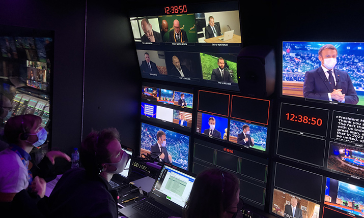 MCR Rugby Word Cup Remote Production with TVU live streaming solutions