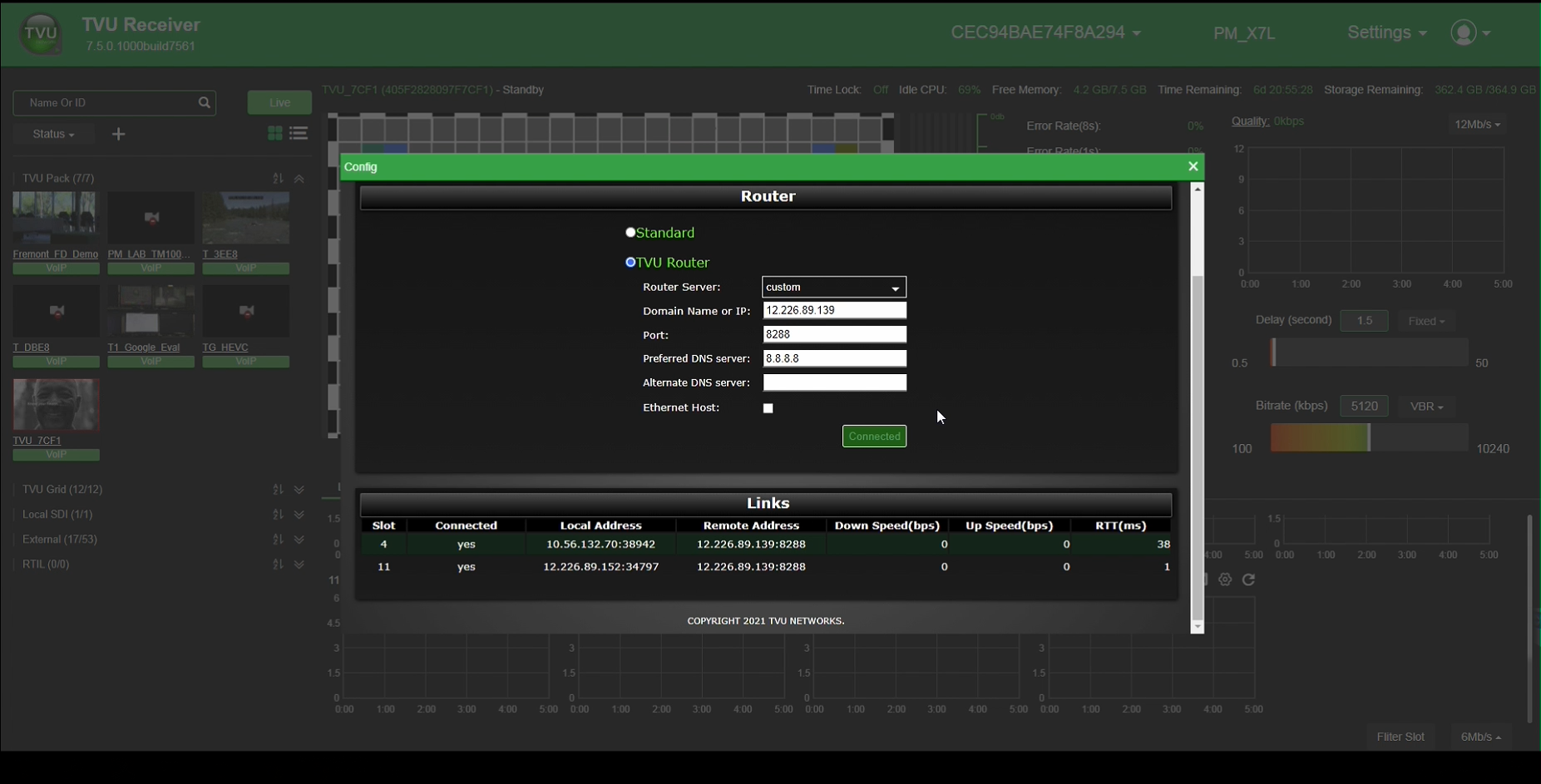 VLAN Hotspot setup with TVUone screenshot
